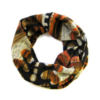 Kids Scarf CuteToddler Scarf Childs Winter Scarf Rust Grey Black Brown Hearts Ready To Ship