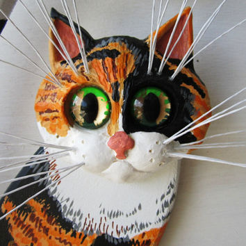 Wood Cat Art Calico