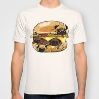 Pugs Burger T-shirt by Huebucket