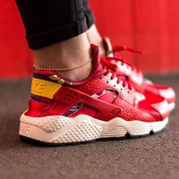"Nike Air Huarache 1 Run ""Red Flower"" Running Shoes 725076-601"