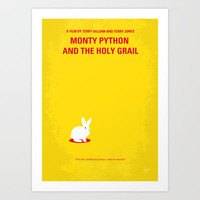 My MONTY PYTHON AND THE HOLY GRAIL minimal movie poster Art Print by Chungkong