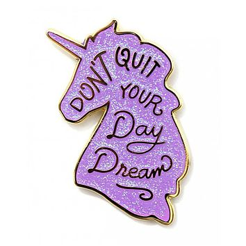 Unicorn Day Dreams Pin - Purple