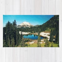 Lake reflections Rug by Sylvia Cook Photography