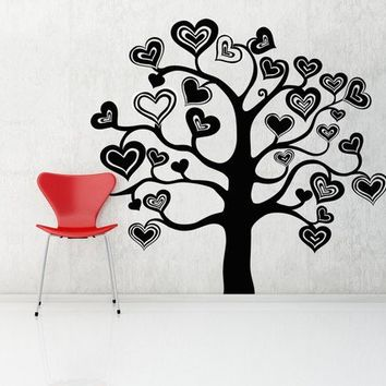 Valentine Tree of Hearts Vinyl Wall Art Decal by VinylWallAccents