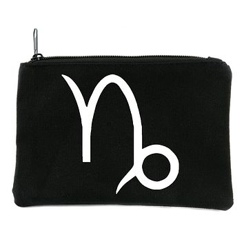 Zodiac Capricorn Sign Cosmetic Makeup Bag Pouch Astrology Horoscope The Goat