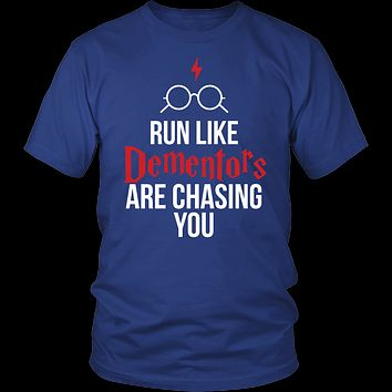Harry Potter - run like dementors are chasing you - men short sleeve t shirt - TL00964SS