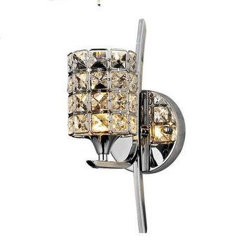Modern Crystal Wall Lamp Sconce K9 E14 Bed room Stairs Aisle chandelier wall light fixture shade for Home Decor Luminaire