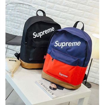 Large Travel Bag College street fashion supreme Comfort School Stylish Soft Casual Backpack