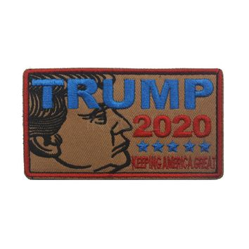Embroidery Patch Trump 2020 Make America Great Again Morale Patch Tactical Emblem Military Badges Appliques Embroidered Patches