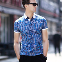Summer Luxury Short Sleeve Pullover Cotton Men's Fashion T-shirts [6543970115]