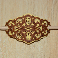 Carved Wood Barrette - Wood Hair Stick - Hair Stick Barrette - Hand Carved Rustic Barrette for Women -Christmas Gift for Teen -Gift Under 15
