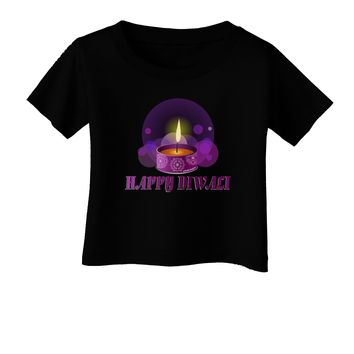 Happy Diwali Purple Candle Infant T-Shirt Dark by TooLoud