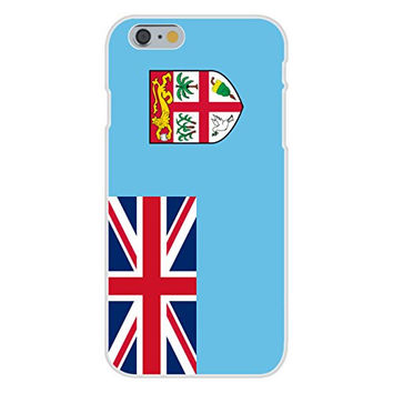 Apple iPhone 6 Custom Case White Plastic Snap On - Fiji - World Country National Flags