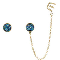 LOVEsick Moon Star Galaxy Cuff Earring 3 Pair
