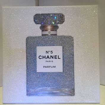 Swarovski Crystal, Glitter and Diamond Effect Perfume Canvas