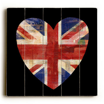 Love London by Artist Cory Steffen Wood Sign