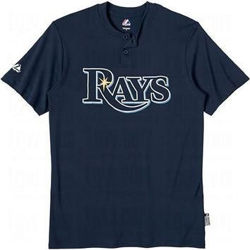 Tampa Bay Rays (YOUTH LARGE) Cool Base Moisture Management Two-Button MLB Officially L