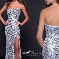 Milano Formals Fitted Silhouette Dress E1791