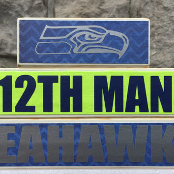 Custom College and Pro Sports Teams Seahawk 12th Man Fan Stacker