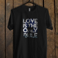 Bon Jovi Love s The Only Rule T Shirt  Mens T shirt and Womens T shirt *