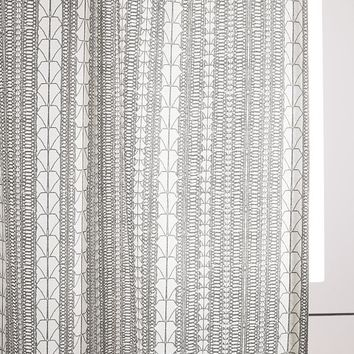 Echo Print Curtains (Set of 2) - Platinum