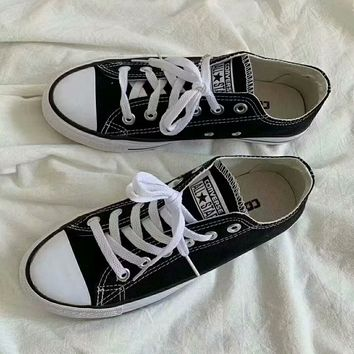 """Converse Chuck Taylor All Star"" Unisex Sport Casual Low Help Canvas Shoes Couple Classic Cloth Shoes"