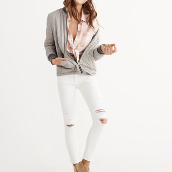 Womens Reversible Bomber Jacket | Womens Outerwear & Jackets | Abercrombie.com