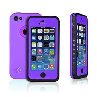 HESGI Waterproof Protection Case Cover for Apple Iphone 5C, Aqua Blue