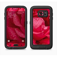 The Drenched Red Rose Full Body Samsung Galaxy S6 LifeProof Fre Case Skin Kit