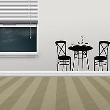 Wall Vinyl Decals Sticker Housewares Food Cafe Restaurant Coffee Table AB1022