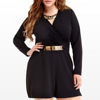 Plus Size Belted Romper | Fashion To Figure