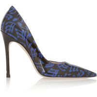 Miu Miu - Printed patent-leather pumps