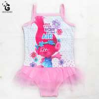 Trolls Girls Clothing Set Swimsuit One Piece Swimwear children