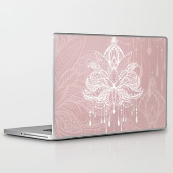 Blush mandala Laptop & iPad Skin by printapix