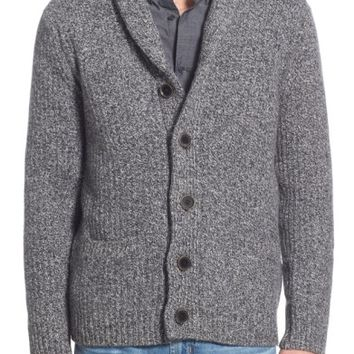 Schott NYC Shawl Collar Wool Blend Cardigan | Nordstrom