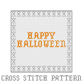 Happy Halloween, Cross Stitch Pattern, Halloween