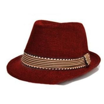 Maroon Baby Prop Fedora Hat (fits baby and Children) - CCHT122