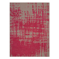 GAN RUGS Canevas Abstract Dark Pink / Dark Felt Area Rug