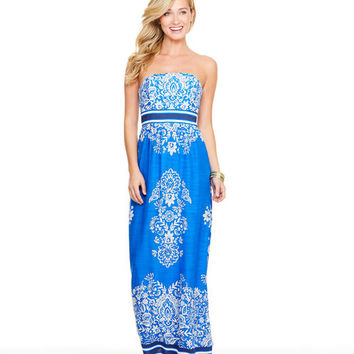 Shop Floral Scarf Print Maxi Dress at vineyard vines