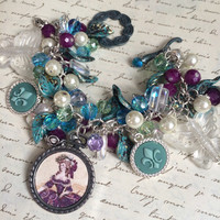 French Inspired Charm Bracelet - The Butterfly Queen