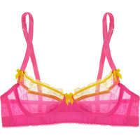 Mimi Holliday by Damaris Kamikaze silk-chiffon plunge bra – 60% at THE OUTNET.COM
