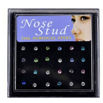 hot sale stainless steel nostril nose ring stud fake piercing navel nombril body jewelry multicolor crystal circle belly button
