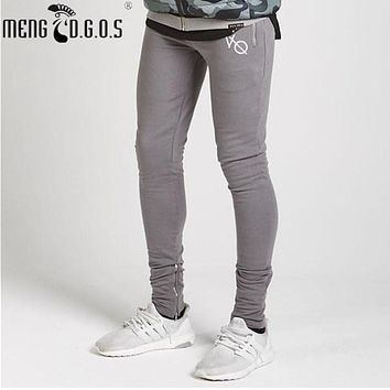Hot sell new pants in 2017, excellent fashion men casual brand pants professional casual leggings, zipper pants