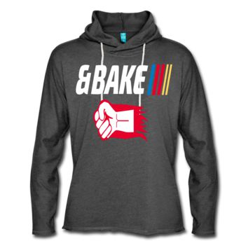 Shake and Bake Couples Unisex Lightweight Terry Hoodie, Bake