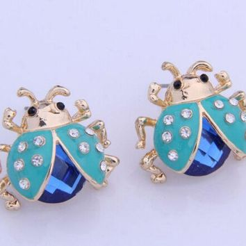 PEAPON Boutique ladybug earrings