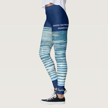 Water Reflection Leggings with Fake Blue Shorts