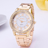 Watch Women Stainless Quartz Watches 2016 Fashion Brand Luxury Rhinestone Watch Casual Wristwatches