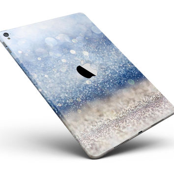 "Blue Unfocused Silver Sparkle Full Body Skin for the iPad Pro (12.9"" or 9.7"" available)"
