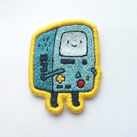 BMO Embroidered Patch - Beemo Adventure Time Gift Brooch Applique Made-to-Order