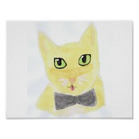 Cute Abstract Cat Poster